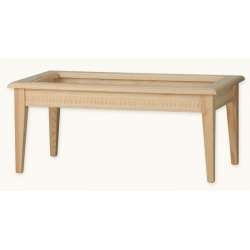 TABLE CENTRALE 110X60 MILAN VERRE