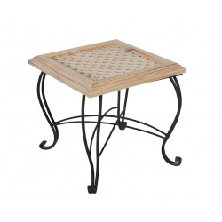 TABLE 50X50 FORGÉ  AVEC  MOSAÏQUE