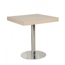 TABLE BAR PIED MÉTALLIQUE 80X80